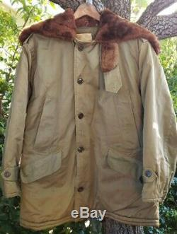 Vintage B-9 Parka ARMY AIR FORCE WWII FIELD JACKET Great Cond Rare