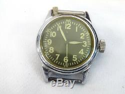 Vintage Elgin A-11 US Military Wristwatch Runs WWII WW2 Era Army Air Force 539