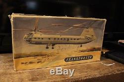 Vintage In Box Biller Tin Wind Up Army Us Air Force Helicopter Military Toy