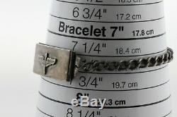 Vintage LOCKETAG Sterling Silver WWII US ARMY Air Force Locket ID Bracelet- 7.5