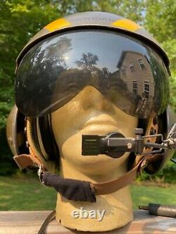 Vintage Named Sheridan Army Air Force Flight Helmet with Earphones & Microphone