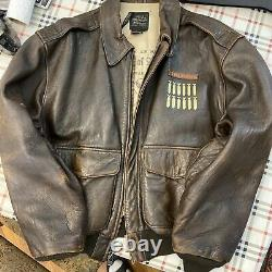 Vintage Type A2 Avirex Leather Army Air Force Wild Child Jacket