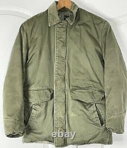 Vintage Type B-29 Quilted Flight Jacket US Army Air Forces OD, Medium