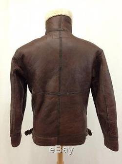 Vintage Type B-3 Air Force Shearling Leather Army Jacket