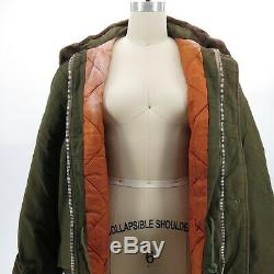 Vintage US Army Air Forces Winter Quilted Insulated Parka Bomber Jacket Sz L