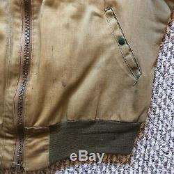 Vintage Vtg 1940s B-15 Flying Flight Jacket Military US Army Air Forces USAAF