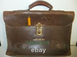 Vintage WW2 WWII army AIRFORCE Attache Gusset Briefcase Officer Leather Bag RARE