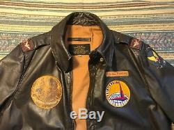 Vintage WWII A-2 US Bomber Jacket Army Air Force LG/XL OFFICER Flight Pilot