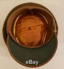 Vintage WWII U. S. Army Air Force Military Officer's Dress Cap Hat Size 7 1/8