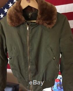 Vintage WWII USAAF US ARMY AIR FORCE Type B-15 Flight Flying Bomber Jacket