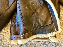 Vintage World War 2 US Army Air Force B-3 leather jacket