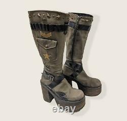 Vintage Y2K El Dantés Platform Boots Approximately 8W