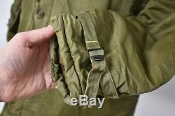 Vtg 50s US Army Air Forces USAAF Quilt Lined B-9 Flight Parka Jacket B-11 S/M