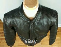 Vtg A-2 Willis Geiger Leather Flight Bomber Jacket Air Force Army A2 Size 42