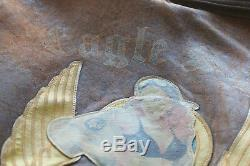 Vtg. Avirex Type A-2 Army Air Forces Flight Jacket with Pin-Up Girl / Bird Patch