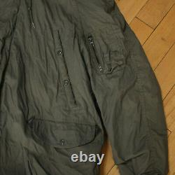 Vtg US ARMY AIR FORCE Military N-3B Extreme Cold Weather Parka Faux Fur Coat XL