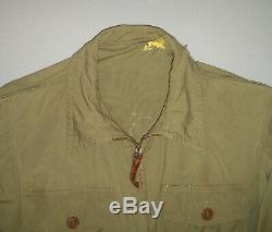 Vtg WWII 1940s Original AAF Army Air Force Flyers Summer Flight Suit Coveralls