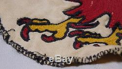 Vtg WWII US ARMY AIR FORCE 40TH BOMBER Disney Fighting Rooster Squadron Patch