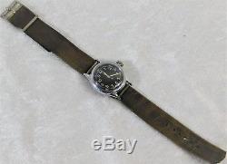 Vtg Wwii Us Army Air Force Hack Bulova 17j Pilot Wristwatch