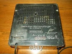 WW II German Army Air Force Kleinempfänger DKE 38 PEOPLE'S RADIO #3 NICE