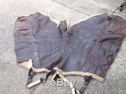 WW2 Army Air Corps Air Force A-3 leather and fleece flight pants bomber fighter