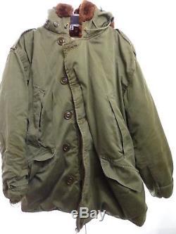 WW2 Army Air Force Style B-9 Parka 46R Fur Hood