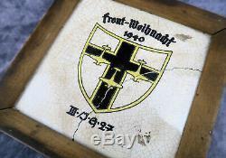 WW2 German JG27 Afrika Luftwaffe Air Force Wall Plaque Shield US Army Vet estate