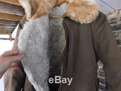 WW2 Japanese winter Flight suit of a army air force pilot 1942 rabbbit fur