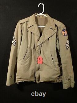 WW2 US AAF 8th Army Air Force Sergeant M41 Field Jacket 34R'TALON' Zipper Fine