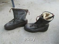 WW2 US Army AIR FORCE Winter Leather/Fur Pilot's FLYING BOOTS