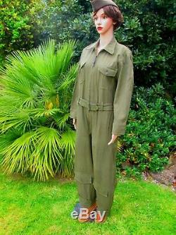 WW2 US Army Air Force ANS31 Summer Flying Suit Size Medium WASP, Nurse, USO