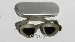 WW2 US Army Air Force AO Sky Lookout Goggle American Optical Co. With Case