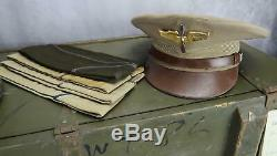 WW2 US Army Air Force Corp officer cadet soldier KIA pilot USAF NAME group trunk
