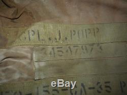 WW2 US Army Air Force Type B-2 Airmen Bag Aviators Kit Named & Survival package
