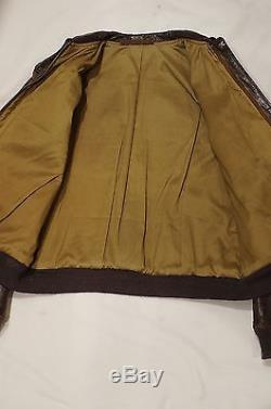 WW2 US Army Air Force USAAF 42nd Bomb Group Crusaders Leather A-2 Flight Jacket