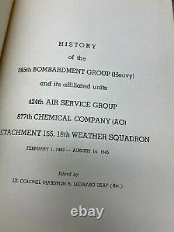 WW2 US Army Air Forces 385th Bomb Group Unit History