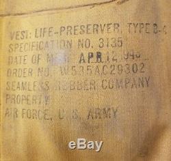 WW2 US USAAF Army Air Force Mae West B-4 Life Preserver Vest 1943 or 1945