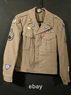 WW2 USAAF 8th Army Air Force Aerial Gunner Ike Jacket Wings Ribbons Crests Nice+