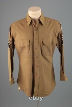 WWII 10th Air Force Wool Uniform Shirt CBI Patch Sz M 40s Army Men's Vtg USAAF