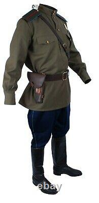 WWII 1943, Soviet Military Officer's Air force Uniform, Red Army Set M43 & Hat