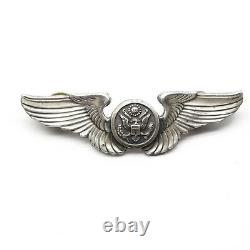 WWII Aircrew USAAF Pilot Wings Clutch back Badge Pin 17.5g US Army Air Force