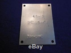 WWII Boeing Model 247 Army Air Force C-73 Data Plate, Impressed for AAF Service