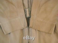 WWII Era USAAF Army Air Force Type AN-S-31 Summer Flying Suit Tan Cotton Sz 38