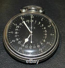 WWII HAMILTON G. C. T. Navigation POCKET WATCH 4992B US Army Air Force 22 Jewel