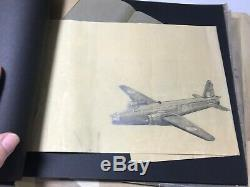 WWII Maps Plane Sketches US Army Air Forces Aerial Photographic Section Album