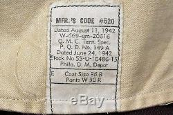 WWII U. S. ARMY AIR CORPS 8th AIR FORCE 1st LIEUTENANT'S IKE JACKET withINSIGNIA