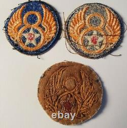 WWII U. S. ARMY AIR CORPS 8th AIR FORCE SHOULDER PATCH BULLION ENGLAND WORLD WAR