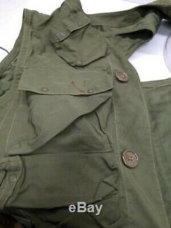 WWII U. S. Army Air Force Survival Vest Many Labeled Pockets Holster