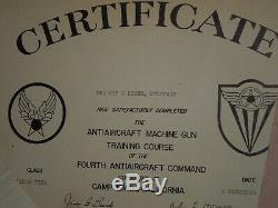 WWII US 20th Army Air Force Gunner Paper Medal Document Lot Group Pacific Japan
