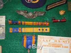 WWII US 5th Army Air Force 90th Bomb Group Jolly Roger Group COMBAT DIARY Medals